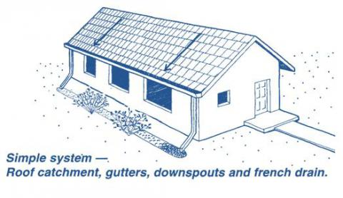 Simple system - Roof catchment gutters downspouts and French drain.  sc 1 st  Water Wise - University of Arizona & Harvest Rain | Water Wise Program memphite.com